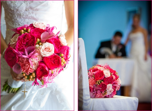 wedding bouquet, signing the register, wedding photo