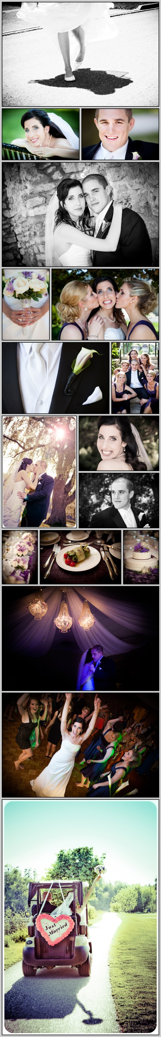Cambridge Ontario wedding photos on a golf course