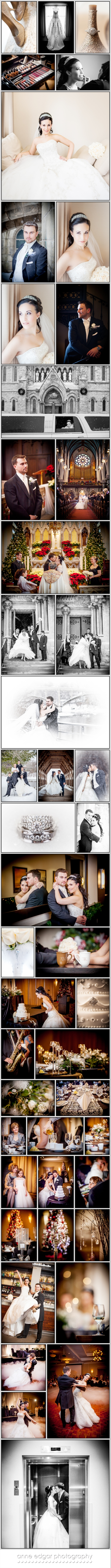 winter Delta Guelph wedding at the covered bridge in the snwo