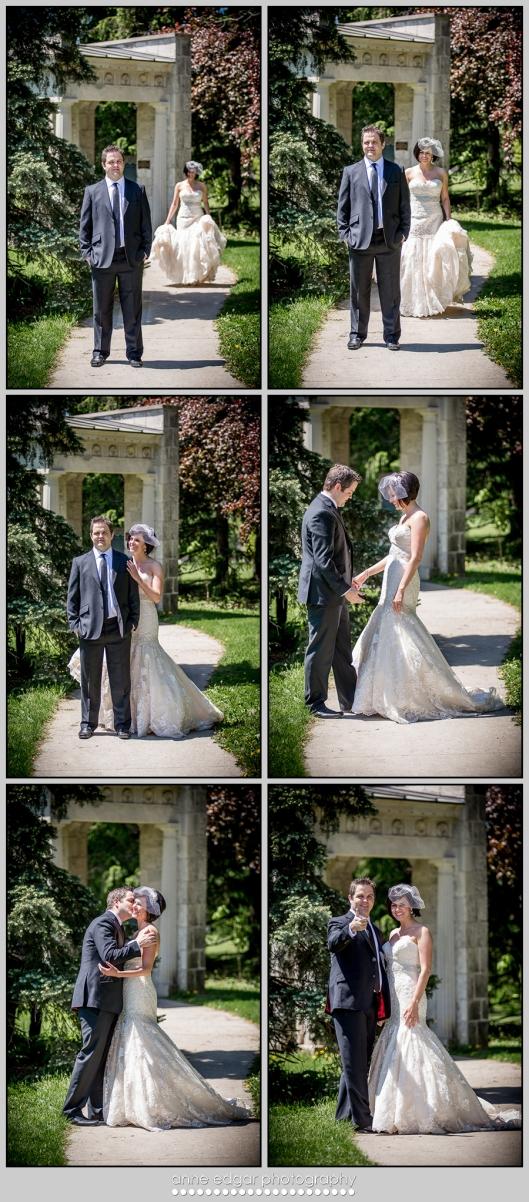 groom sees bride first look