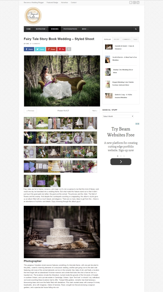 featured on Elegant Wedding
