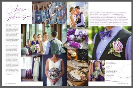 Cambridge Mill summer wedding in grey & purple