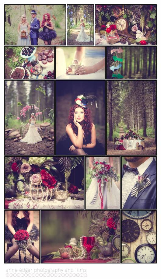 wedding inspiratin & ideas with a Lewis Carroll theme